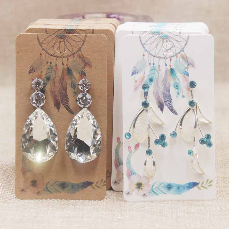 200pcs Display Jewelry Earring Card Special Gift Price Tag Hot Selling Mystorious Style Rectangle Display Earring Packaging5x9cm