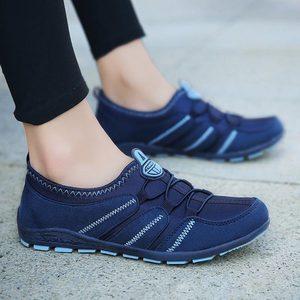 Image 5 - Chaussures de course à enfiler pour femmes, baskets pour femmes, de Sport, bleues, 2019