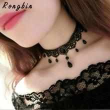 Fashion Black Velvet Choker Necklace for Women Statement Necklaces & Pendants Bijoux Femme Collier Jewelry Collares Mujer