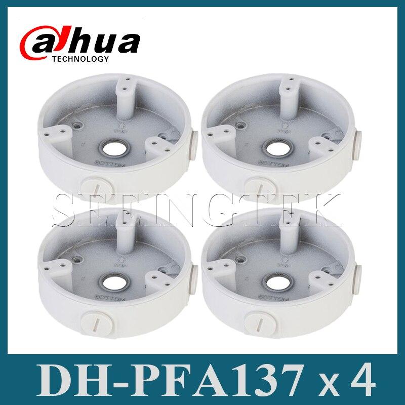 4 Pieces/Lot Dahua PFA137 Waterproof Junction Box for Dahua IPC-HDBW4431R-S & IPC-HDBW4431R-ZS CCTV Mini IP Dome Camera PFA137
