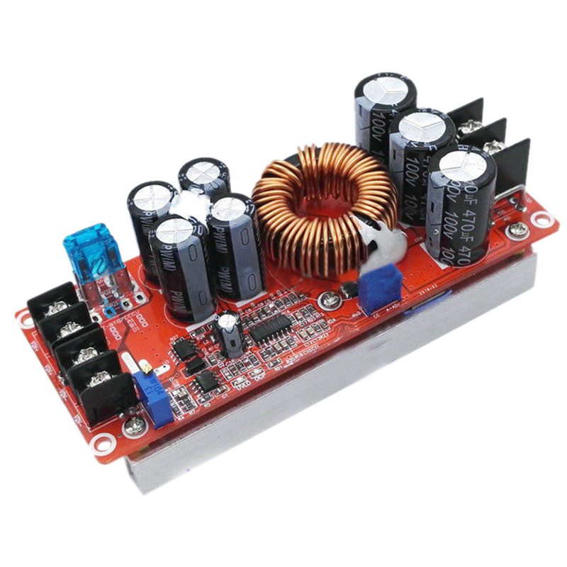 THGS 1200W 20A DC Converter Boost Car Step-up Power Supply Module 8-60V to 12-83V 1pcs 1500w 30a dc dc cc cv boost converter step up power supply charger adjustable dc dc booster adapter 10 60v to 12 90v module