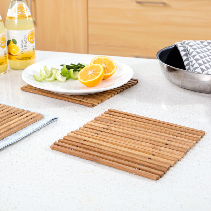 Bamboo Coasters Mat Pads Bowl Holder Tableware Placemats Table Decor ONE