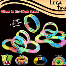 Glow race toy track Playsets Flash in the Dark Accessory 360 Loop de Loop Clear Track