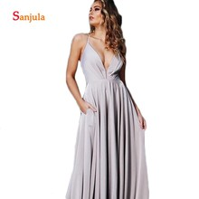 31d2150700 Buy light grey chiffon bridesmaid dresses and get free shipping on ...