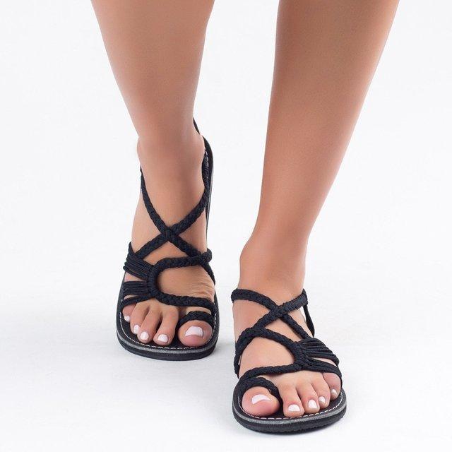Laamei Sandalen Mode 2019 Neue Frauen Sommer Schuhe Weibliche Flache Sandalen Rom Stil Kreuz Gebunden Sandalen Schuhe 35-43