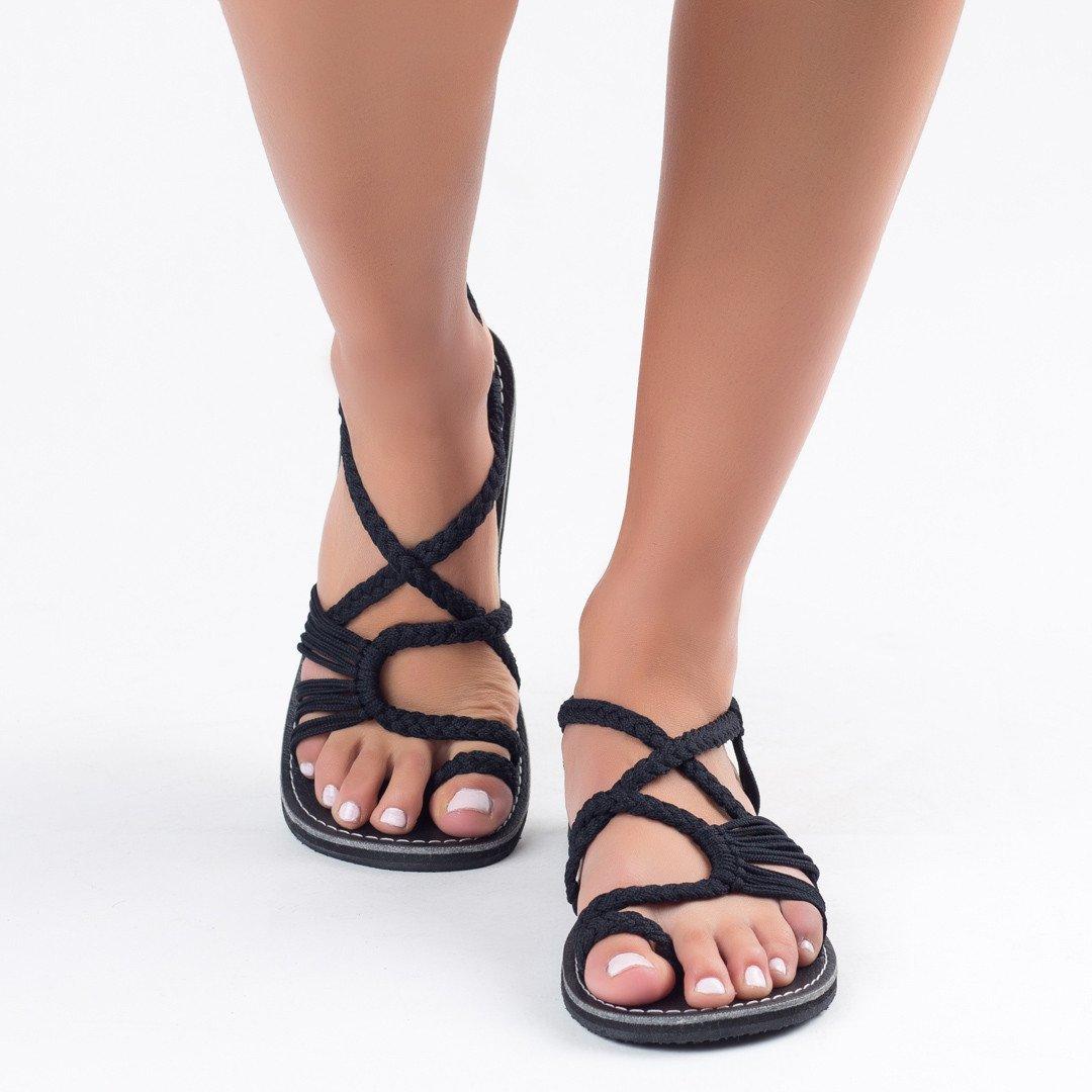 Frauen Sandalen Initiative Laamei Sandalen Mode Gladiator Sandalen Frauen Sommer Schuhe Weibliche Flache Sandalen Rom Stil Kreuz Gebunden Sandalen Schuhe 35-43 Weniger Teuer