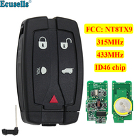 4+1/5 buttons Keyless entry Remote Smart Key for Land Rover LR2 Freelander 315MHz OR 433MHZ ID46 chip NT8TX9 with insert key