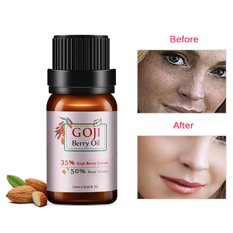 10ml Facial Care Oil Goji Berry Essential Oil Anti Wrinkle Anti Aging Rose Flavor Chinese Wolf Berry Goji Lifting Face Serum