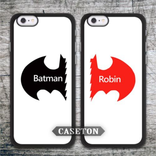 Batman And Robin Best Friend Couple Case For iPhone 7 6 6s Plus 5 5s SE 5c 4 4s and For iPod 5 Wholesale Drop Shipping Retail