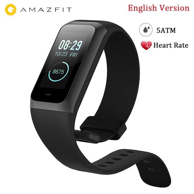 Xiaomi Huami Amazfit Cor 2 Midong Band Smart Wristband English Version 1.23 inch Color Screen Heart Rate Monitor Waterproof 5ATM