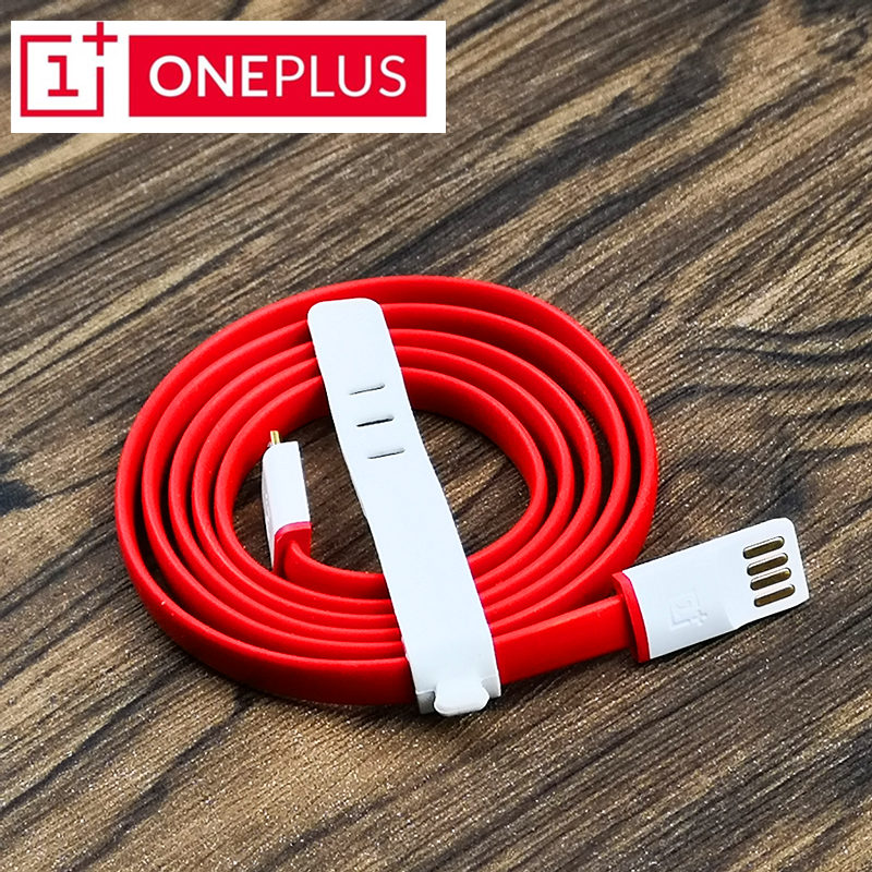 OnePlus One Charger Cable For X/1 Mobile Phone Original 2a 100cm red noodles Micro Usb Cable For One Plus smartphone
