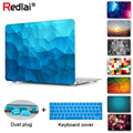 Redlai Geometric Case For 2018 New Macbook Air 13 A1932 with Touch ID Pro 13 15 Retina A1502 Touch Bar A1706 A1707