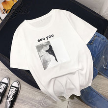 Cat looking See you Print Women tshirt  100% Cotton Casual Funny t shirt For Lady Girl Top Tee Hipster Tumblr Drop Ship недорого