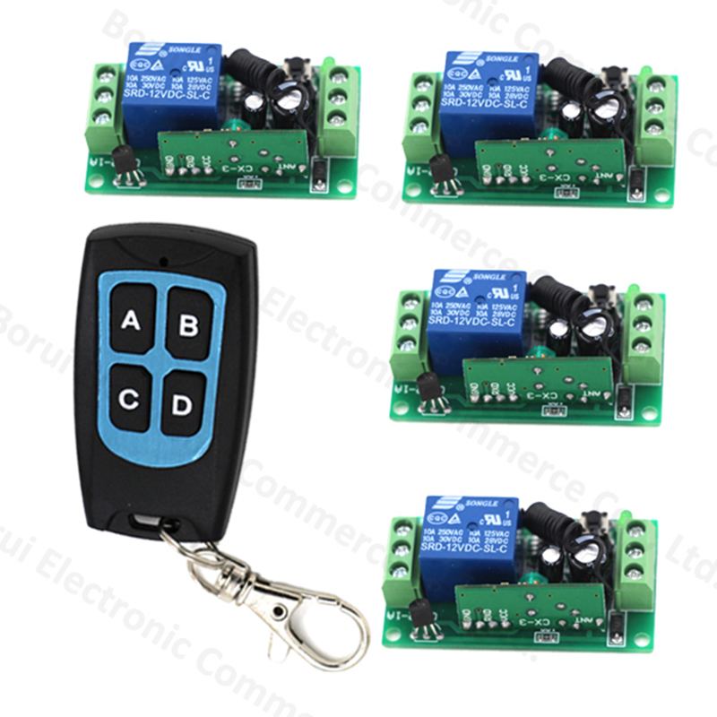 DC12V 1CH 1 channel Wireless Remote switch Remote Control switch RF ON/OFF System 315MHZ/433MHZ