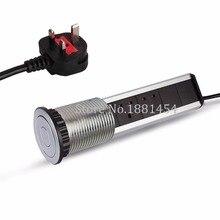 220 V 16A pull pop up eléctrica 3 enchufe 2 USB outlet cocina socket Mesa retráctil para encimeras encimera REINO UNIDO/UE PLUG