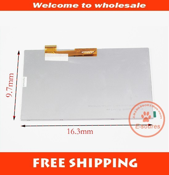 New For 7 irbis TX35 3G TABLET 30pins LCD Display Matrix 1024*600 TFT LCD Screen Panel replacement Free Shipping лакомство для грызунов jr farm соль лизунец 80 г 38994