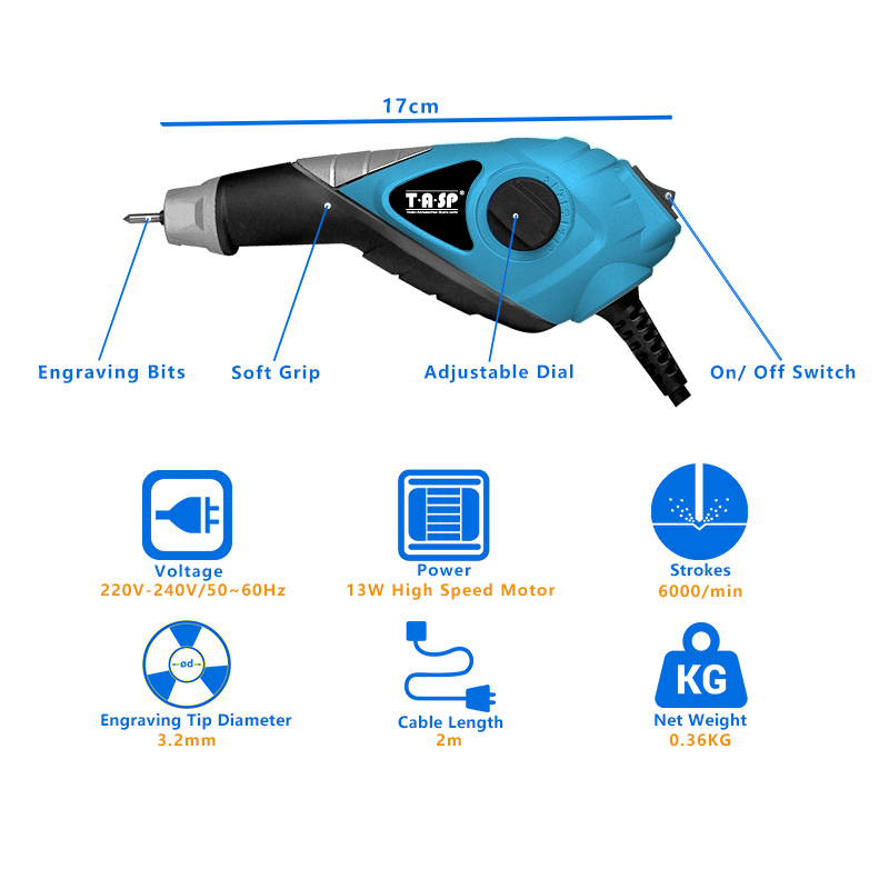 230 V 13W elektrinio graviravimo įrankio graviravimo rašiklis - Elektriniai įrankiai - Nuotrauka 2