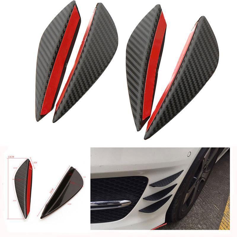 4Pcs/Set Car Front Bumper Lip Splitter Body Spoiler Canard Chin Fit Accessories