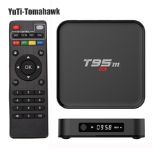 Новый Android TV Box T95M 1 ГБ/2 ГБ 8 ГБ 2.4 Г Wi-Fi Smart S905X КОДИ 16.0 android 6.0 quad core h.265 4 К media player mini pc tv коробка