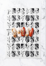 1pc Nail Water Stickers Marble Texture Series For Nails Manicure Nail Art Design Water Transfer Watermark Fashion Decals