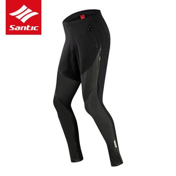 SANTIC zimowe spodnie do wędrówek pieszych ciepłe bawełniane spodnie do biegania na trening sportowe spodnie polarowe męskie pot wiatroszczelne wodoodporne spodnie wyściełane spodnie tanie i dobre opinie Elastyczny pas Poliester COTTON Pełnej długości Camping i piesze wycieczki Pasuje mniejszy niż zwykle proszę sprawdzić ten sklep jest dobór informacji