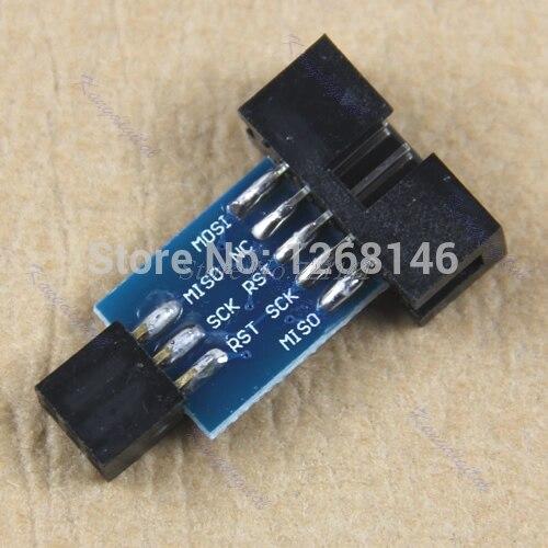 10 Pin Convert to 6 Pin Adapter Board For ATMEL AVRISP USBASP STK500