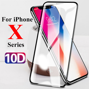 Image 1 - 10D Protective glass on the for Apple iphone xs xr x 11 Pro max screen protector for iphone 6 6s 7 8 plus 9H tempered tremp film