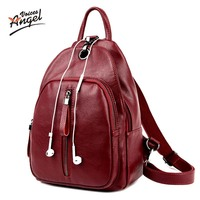 Women Genuine Leather Embossed Backpack For College Shoulder Bag Female Fashion Backpacks Woman Back Pack Daily