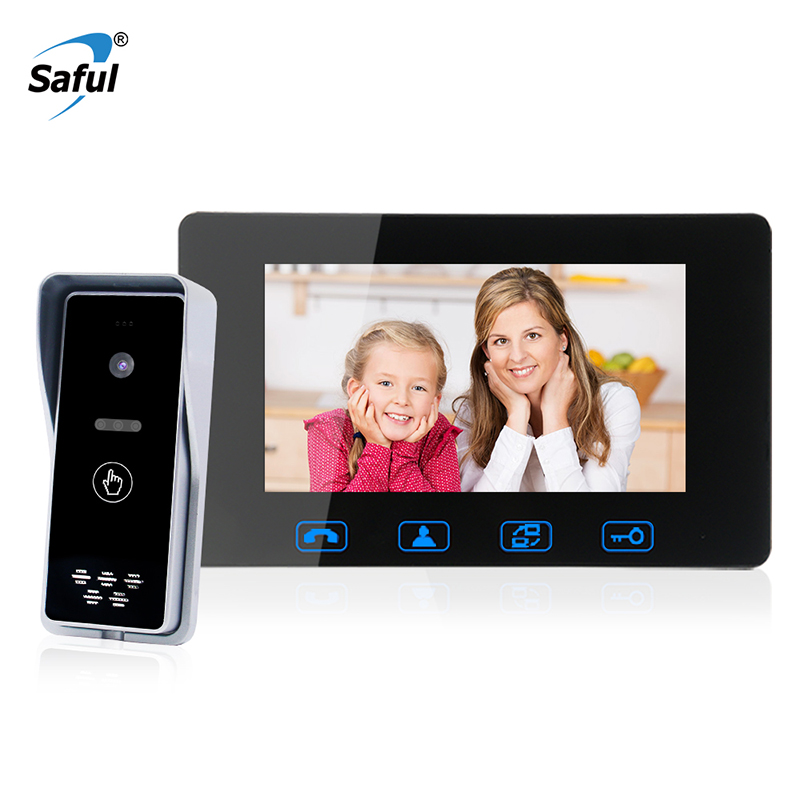 Wired Video Doorbell 7 Inch Video Intercom System With HD Camera And Color Monitor Doorbell Kit For Home And Office Security