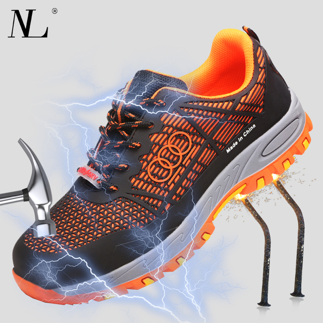 Men and women Safety Shoes Breathable Insulating shoes Anti smashing Anti piercing Safety Boots Anti skid Work Shoes
