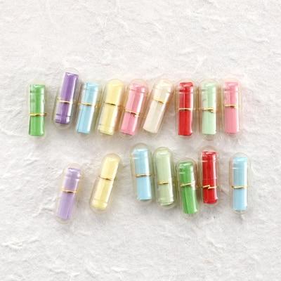 100pcs/Lot Mini Wish Bottle Message In A Bottle Message Cute Capsule Letter Love Pill Full Clear Color