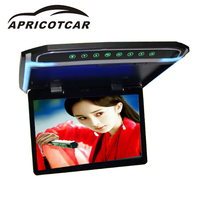 APRICOTCAR 800 480 Car LCD Color Monitor Flip Screen Roof Mount Flip Monitor HD 1080P Infrared