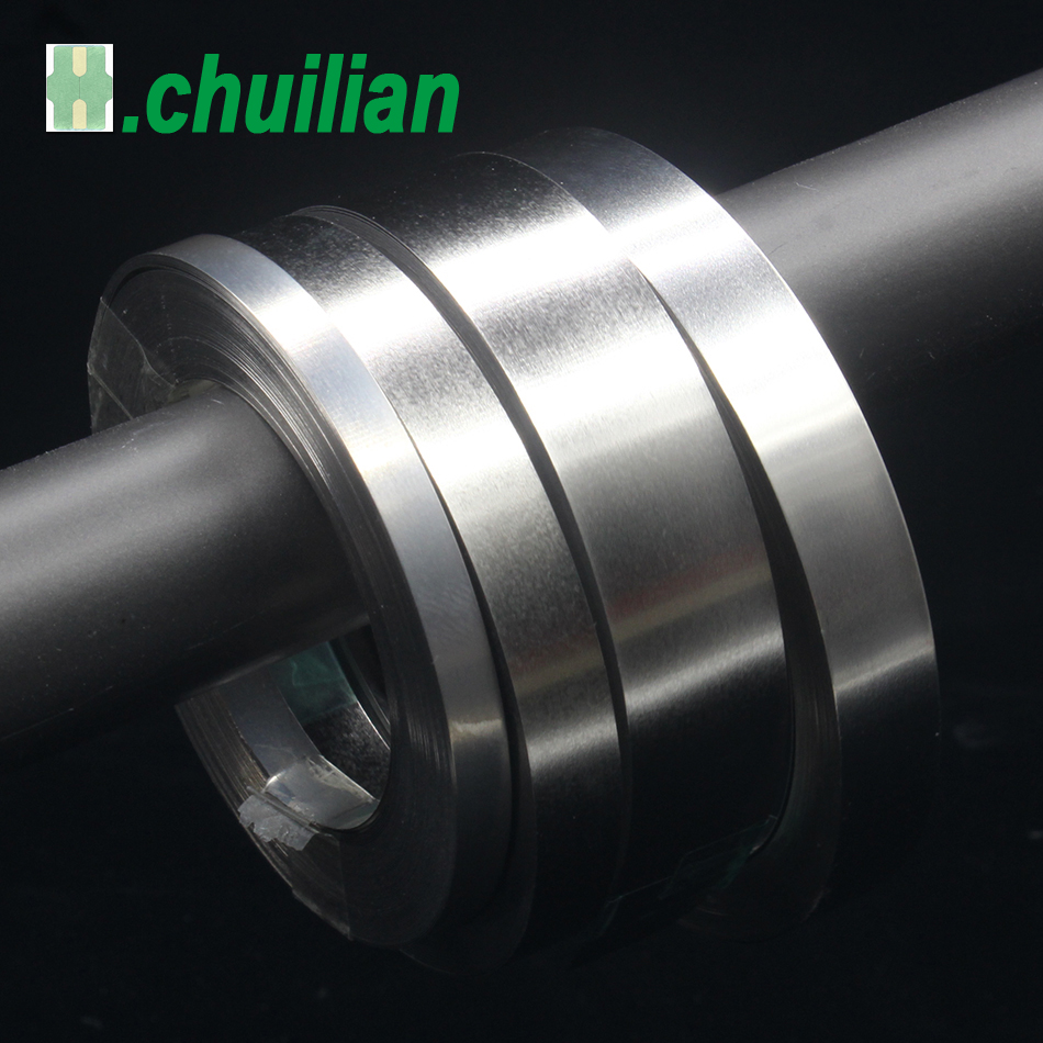 Chuilian Thickness 0.25mm / 0.3mm X 10Meter 99.96% N6 Pure Nickel Plate Strap Strip Sheets For 18650 Battery Spot Welding Machin