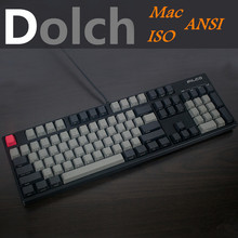 Cool Jazz Black Gray mixed Dolch Thick PBT 108 87 61 Keycaps OEM Profile Mac Key caps For MX Mechanical Keyboard Free shipping(China)