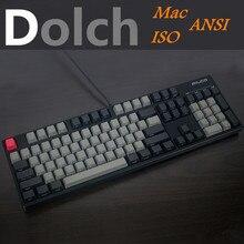 Cool Jazz teclado PBT grueso con Dolch mixto, negro y gris, perfil OEM para interruptores Cherry MX, teclado con teclas iso y Mac, 108 87 61
