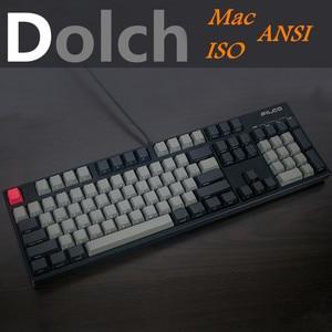 Image 1 - שחור ג אז מגניב אפור מעורב Dolch העבה PBT 108 87 61 Keycap פרופיל OEM עבור Cherry MX מתגי מקלדת keycap להוסיף iso Mac מפתח