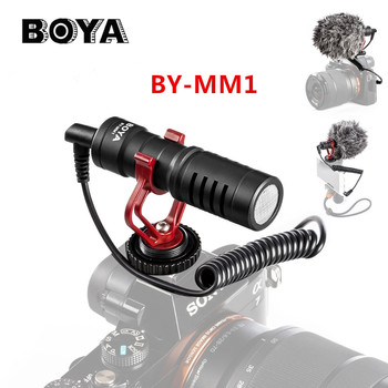 BOYA BY-MM1 nagrywania wideo mikrofon do aparatu DSLR Smartphone Osmo kieszeń na Youtube Vlogging mikrofonem dla iPhone Android DSLR Gimbal tanie i dobre opinie Nagrywanie Zestawy NoEnName_Null