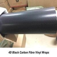 Автомобильная виниловая оберточная пленка из углеродного волокна 4D 5ft X 98ft/рулон стандартного размера оптовая цена преимущество