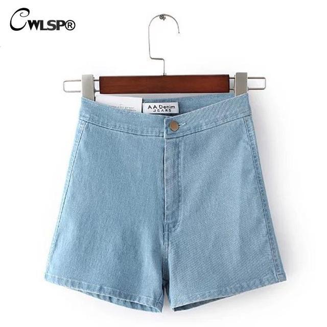 Новый Летний Стиль Короткие Женщины Высокой Талией Джинсовые Шорты Классические One Button Solid Straigh Тощие Короткие Джинсы pantalon femme QZ1500