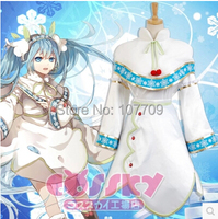 Vocaloid Hatsune Miku Snow Miku Halloween Christmas Party Women Cos Anime Cosplay Costume Clothing Suit Unisex