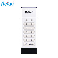 100% Original Netac U618 Keyboard Encrypted USB Flash Drive 16GB 32GB USB 2.0 Hardware Encryption 64GB Pendrive Memory USB Stick