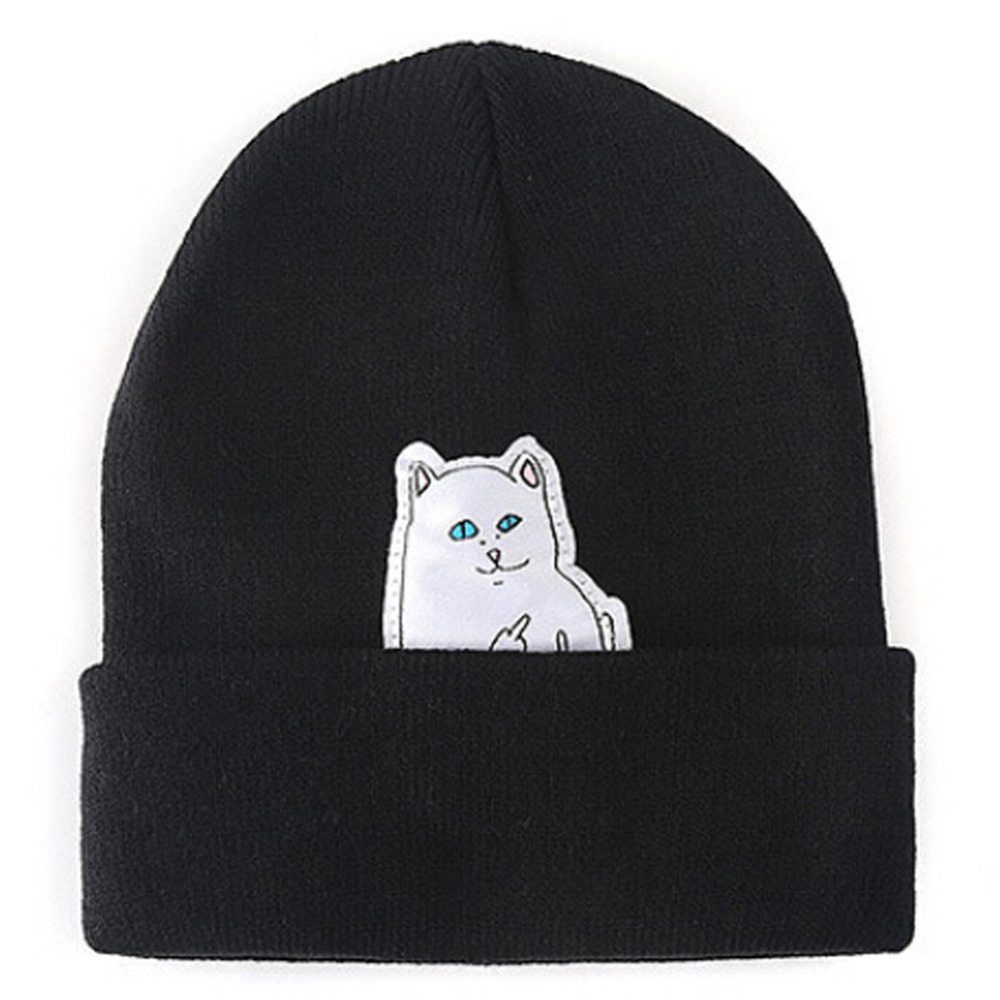Women Cap Knitted Cat Hat Skullies Beanies Men Women Street Cap Unisex Autumn Hat With A Cat Beanie Hip Hop Hedging Warm Beanies skullies
