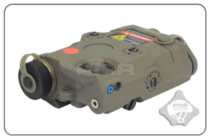 FMA AN-PEQ-15 Upgrade Version LED White Light & Red Laser with IR Lenses for Helmet Camp ...