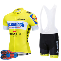 2019 TEAM QUICKSTEP PRO cycling jersey 9D gel bike shorts suit MTB Ropa Ciclismo mens summer bicycling Maillot culotte clothing