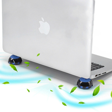 Laptop Stand Magnetic Portable Cooling Pad For MacBook Laptop Cool Ball Heat Dissipation Skidproof Pad Cooler Stander Notebook цена