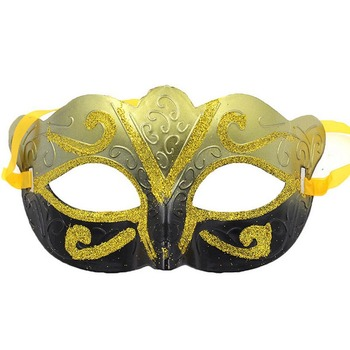 100pcs Ball Mask With Gold Glitter Mask Venetian Unisex Sparkle Masquerade Venetian Mask Mardi Gras Costume
