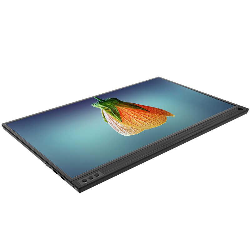 Monitor de pantalla portátil ips con puerto usb lcd tipo c de 15,6 pulgadas
