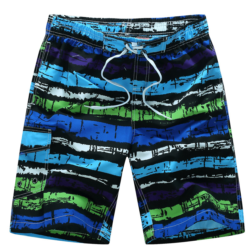 2017 New brand surfing & beach   shorts   men geometric Summer swimwear mens   board     shorts   quick drying Boxer Trunks M-6XL