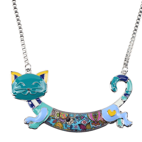 CUTE ALLOY ENAMEL CAT NECKLACE-Cat Jewelry-Free Shipping CUTE ALLOY ENAMEL CAT NECKLACE-Cat Jewelry-Free Shipping HTB1qsqNXN1YBuNjy1zcq6zNcXXa4