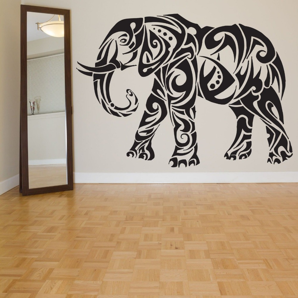 Car elephant sticker elephant decal car posters vinyl wall for Custom vinyl mural prints